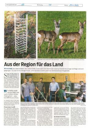 Beitrag in der Hohenzollerischen Zeitung